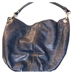 Genuine Leather Navy Blue HandBag